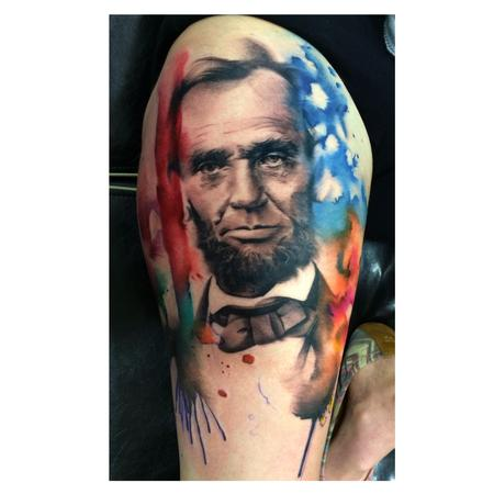 Tattoos - Abe Lincoln Tattoo - 88959