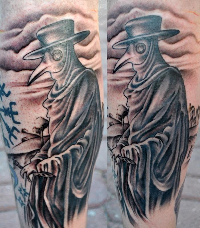 Plague doctor by brandon roberts tattoonow for Plague doctor tattoo