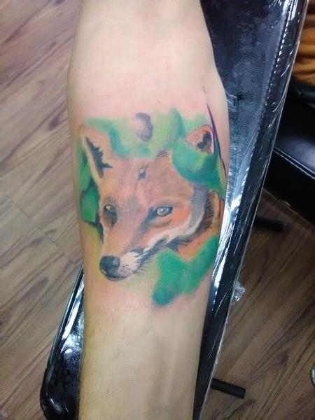 Fox on forearm Design Thumbnail