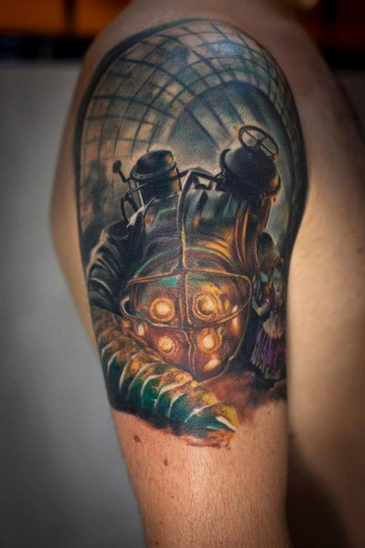 bioshock plasmid tattoo the image kid has it. Black Bedroom Furniture Sets. Home Design Ideas