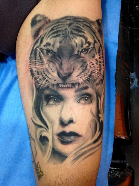 Off the map tattoo jose gonzalez tattoos page 1 for Tiger tattoo for girl