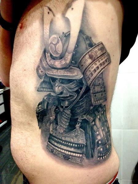 Samurai Armor  Tattoo Design Thumbnail