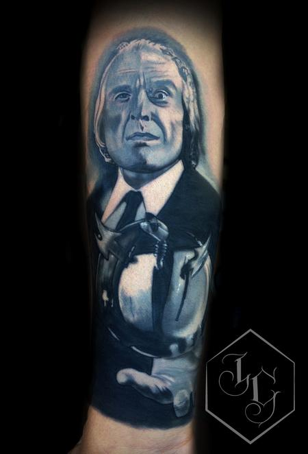The Tall Man from Phantasm realistic tattoo in Black and Grey Tattoo Design Thumbnail