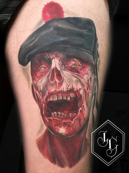 Scottish Zombie Tattoo Design