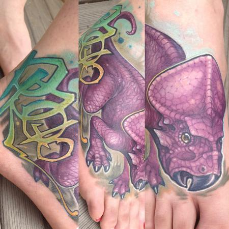 Tattoos - Dinosaur foot tattoo - 93557