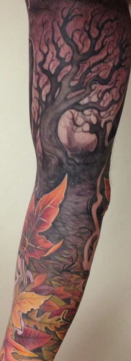 Fall Nature Sleeve Tattoo