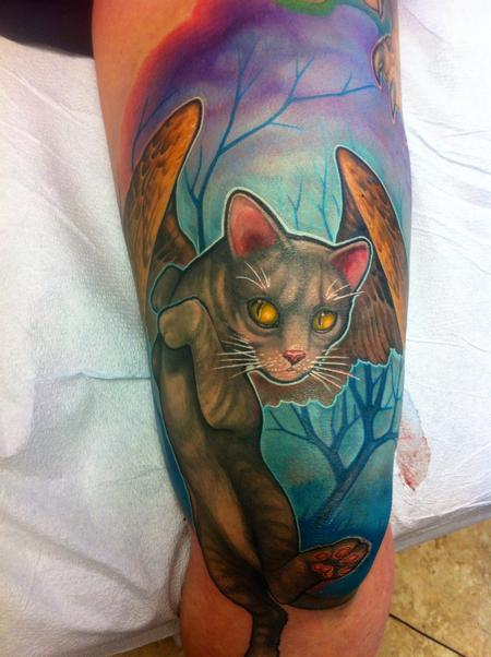 Tattoos - Winged Cat tattoo - 93559