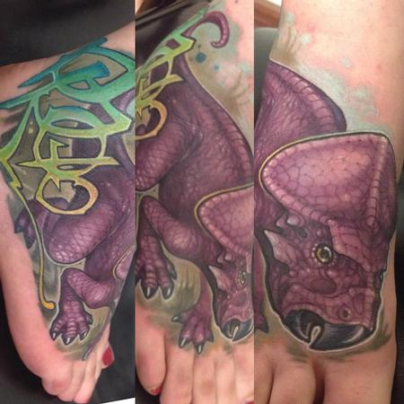 Dinosaur Tattoo by Matt Driscoll