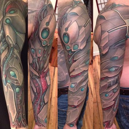 Bio mechanical fullsleeve tattoo Tattoo Design Thumbnail