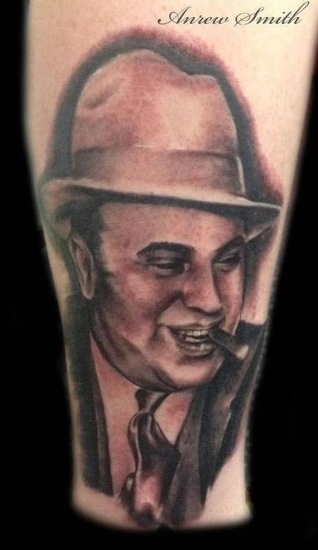 Andrew Smith - Black and Grey Portrait Tattoo