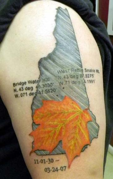 New hampshire tribute by caroline evans tattoonow for New hampshire tattoo