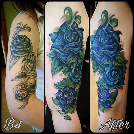 Tattoos - Flower Coverup - 130241
