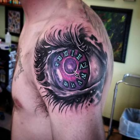 Tattoos - Eye and Clock - 131907