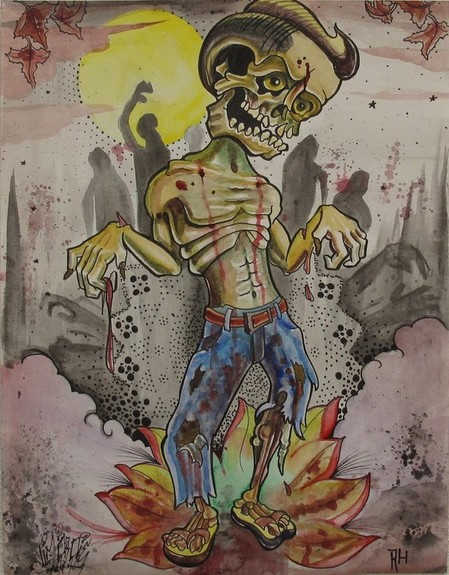 Robert Hendrickson - Water color zombie collaboration