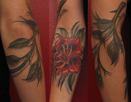Robert Hendrickson - Rose with thorns tattoo