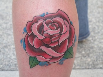 Rose Tatto on Ink   Tattoos   Traditional Old School   Full Color Traditional Rose