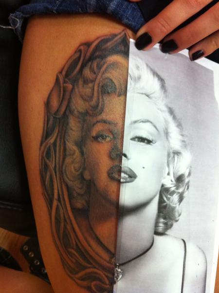 Marilyn portrait tattoo Tattoo Design