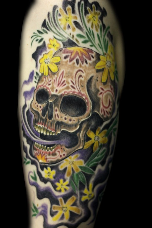 Marigold Sugar Bone By Aarom Hemmersbach Tattoonow