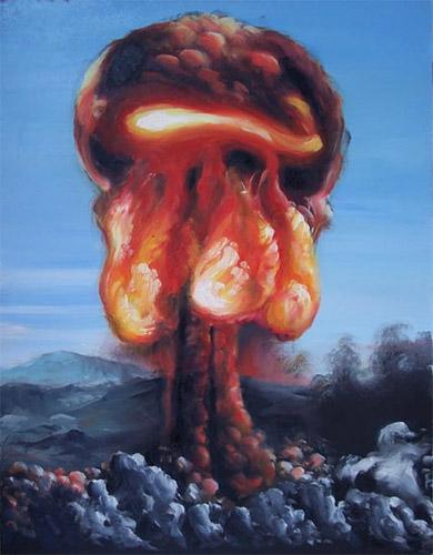 Mushroom cloud art