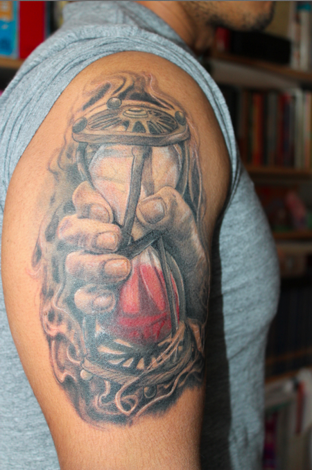 Hourglass Tattoo Tattoo Design Thumbnail
