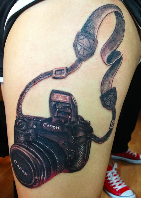Camera Tattoo Tattoo Design Thumbnail