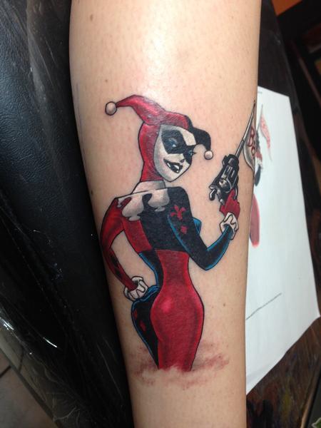 Tattoos - Harley Quinn Color Tattoo - 117551