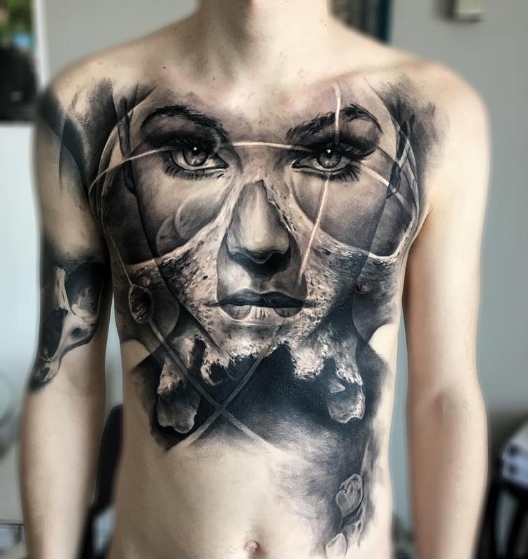 Realism Tattoo For Woman: Venetian Tattoo Gathering : Tattoos : Jak Connolly