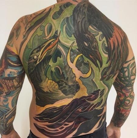 Tattoos - Neo Bird Backpiece - 130863