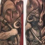 Black and Grey Nordic sleeve Tattoo Design Thumbnail