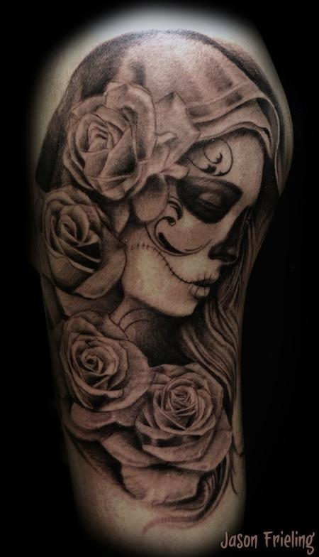 Jason Frieling - Day of the Dead Virgin Mary tattoo