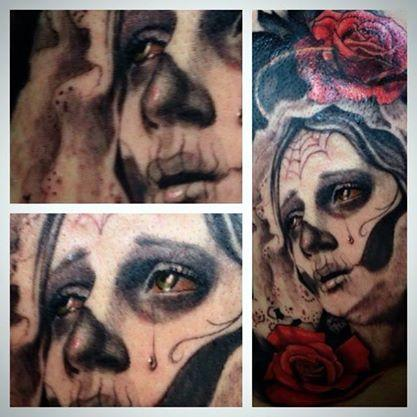 Tattoos - Day of dead tattoo - 96223