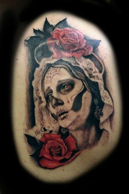 Tattoos - day of dead tattoo - 96224