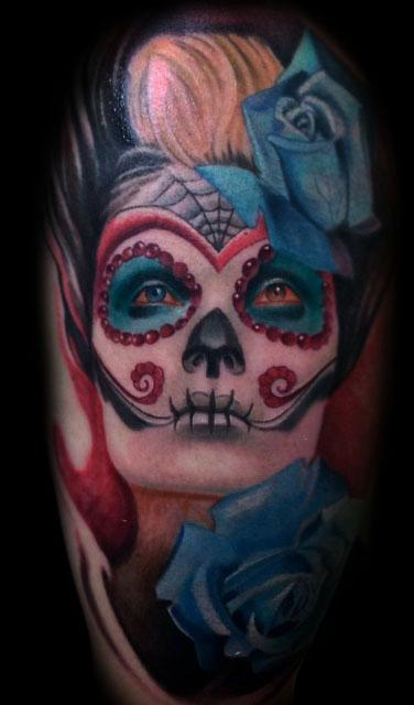 Tattoos - Day of dead tattoo - 100164