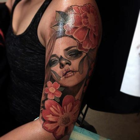Tattoos - Day of Dead flowers - 111377