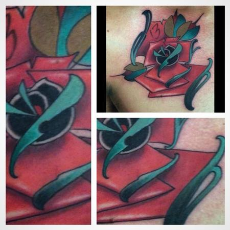 Tattoos - neotraditional rose - 91856