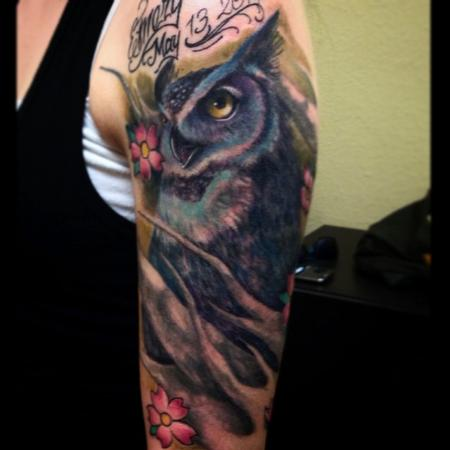 Tattoos - owl tattoo - 99928