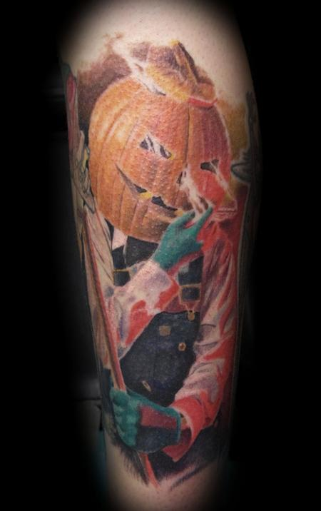 Tattoos - PUMPKIN HEAD MARV - 104369
