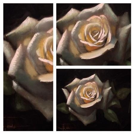 Tattoos - Rose oil painting - 99933