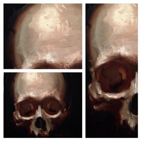 Tattoos - skull oil painting - 99932