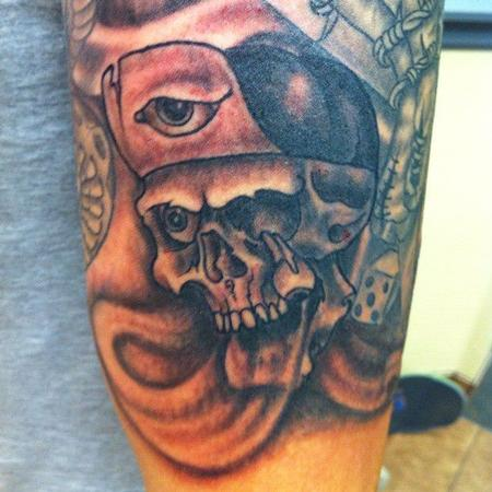 Jeff Johnson - Gangstered out Skull tattoo