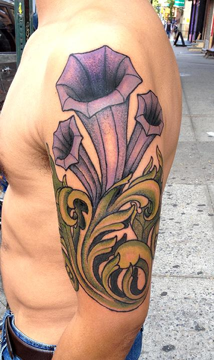 Jeff Johnson - Filigree Flowered Tattoo