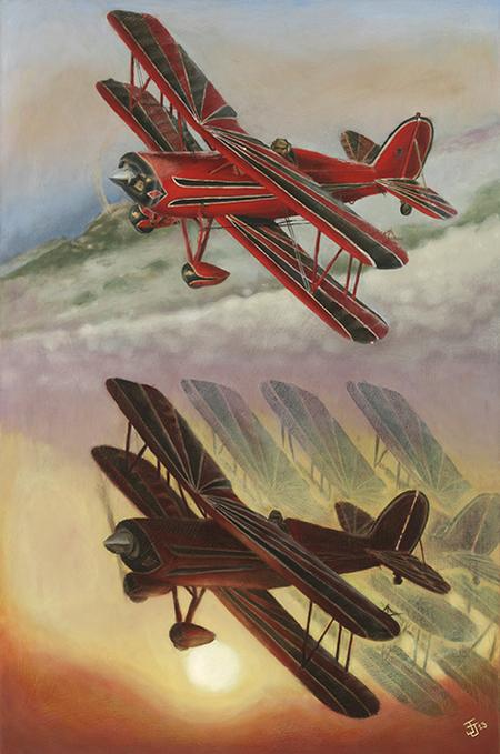 Jeff Johnson - Planes oil painting
