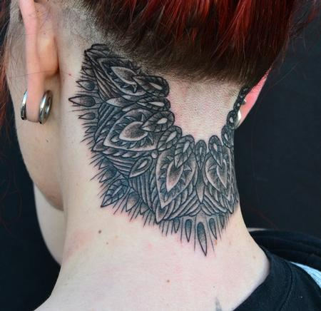 Jeff Johnson - Black Neck Mandala Tattoo