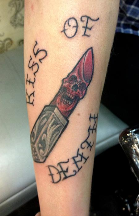 Traditional Lipstick Tattoo