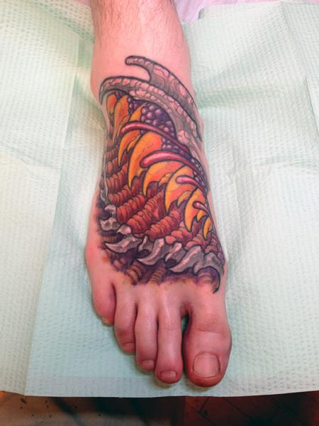 Jeff Johnson - Peters Biomech Foot Tattoo