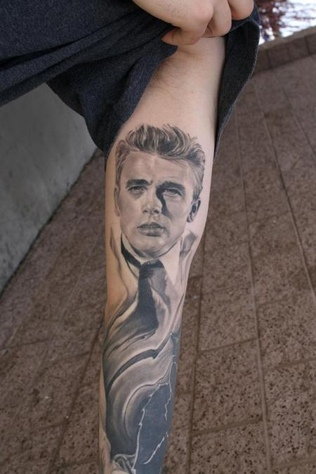 James Dean portrait  Tattoo Design Thumbnail