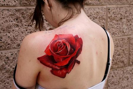 Tattoos - realistic rose - 91301