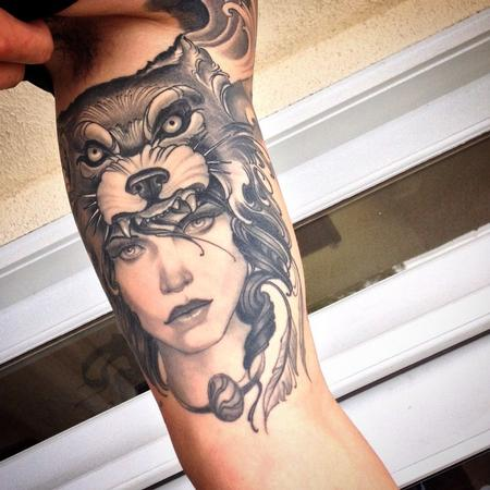 Tattoos - Wolf headdress - 102329