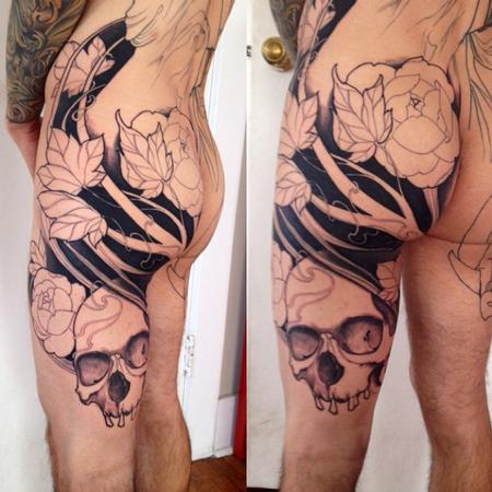 Tattoos - Full back in progress - 97733