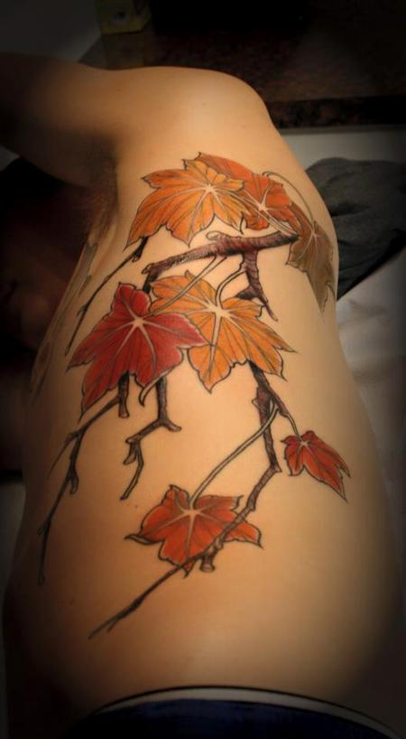Tattoos - Maple leave branch - 99243